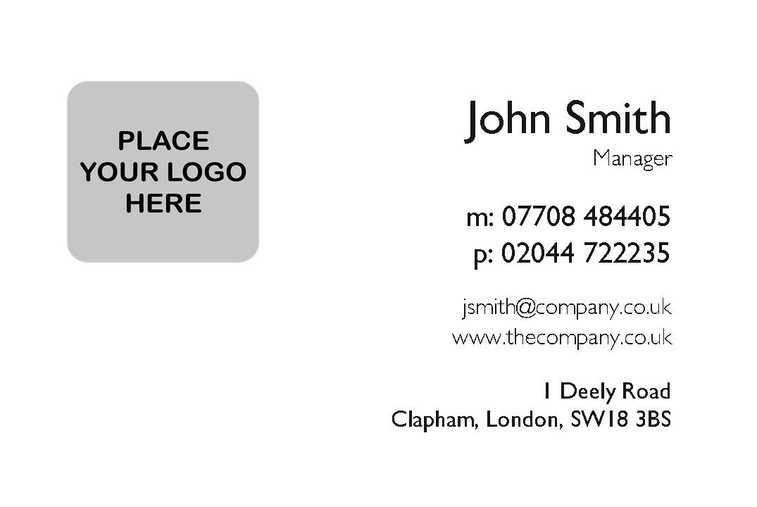 Basic Business Cards Design Template ...  Line Card Template