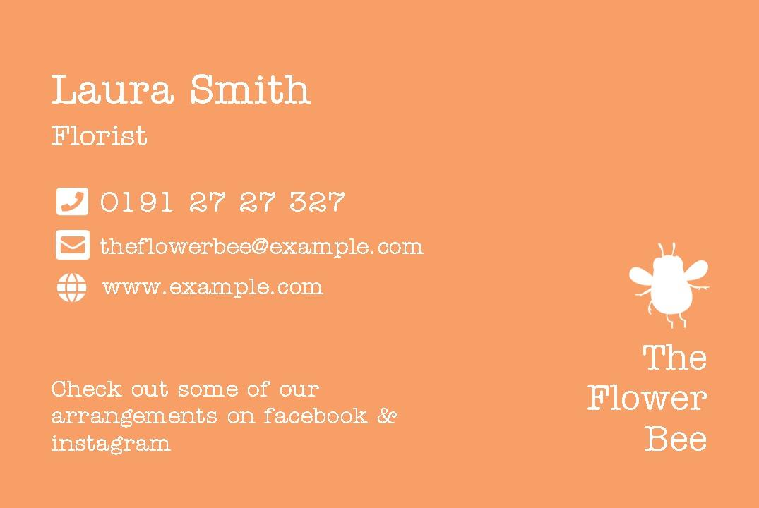 Free business cards templates instantprint the flower bee business cards design template cheaphphosting Image collections