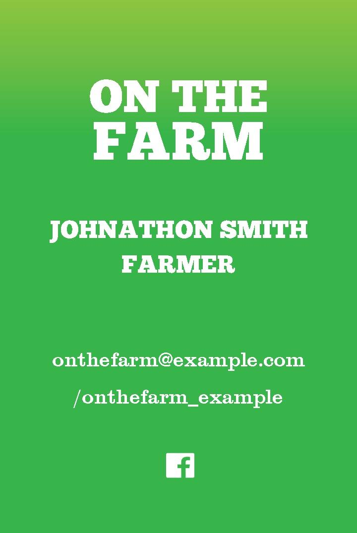 Free business cards templates instantprint on the farm business cards design template cheaphphosting