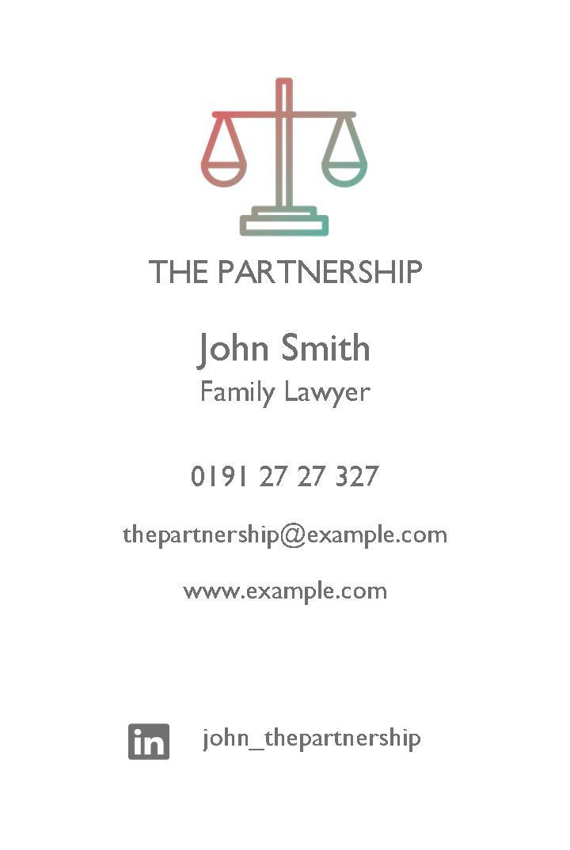 Instant print design online business cards templates the partnership business cards design template flashek Choice Image