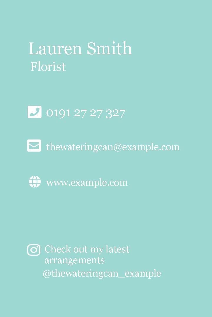 Free business cards templates instantprint the watering can business cards design template colourmoves