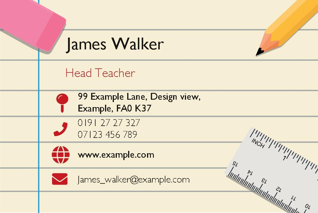 Free business cards templates instantprint back to school business cards design template flashek Images