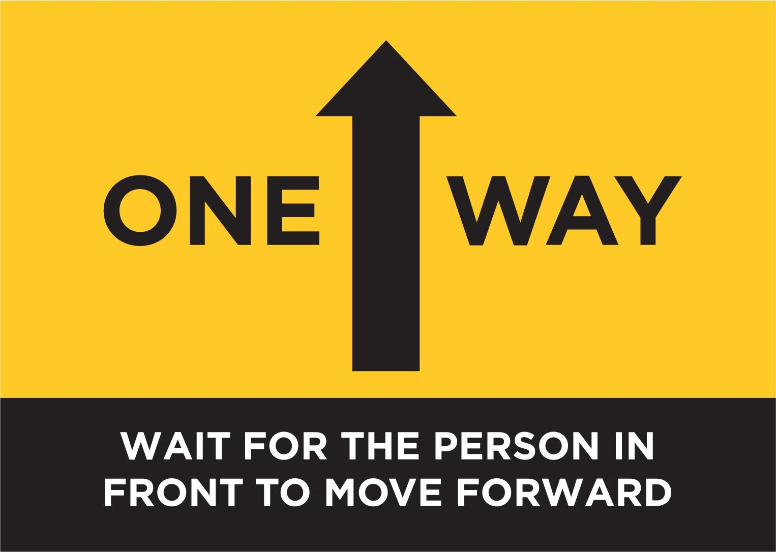One Way Shopping System Flow POSTER SIGN NOTICE GUIDANCE Social Distancing Info