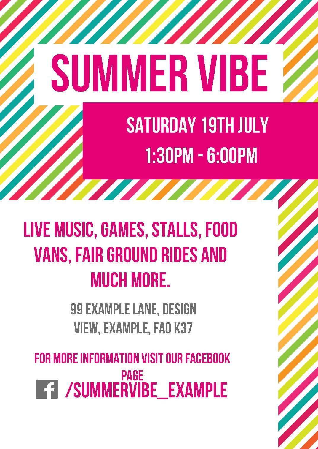 summer vibe correx signs design template
