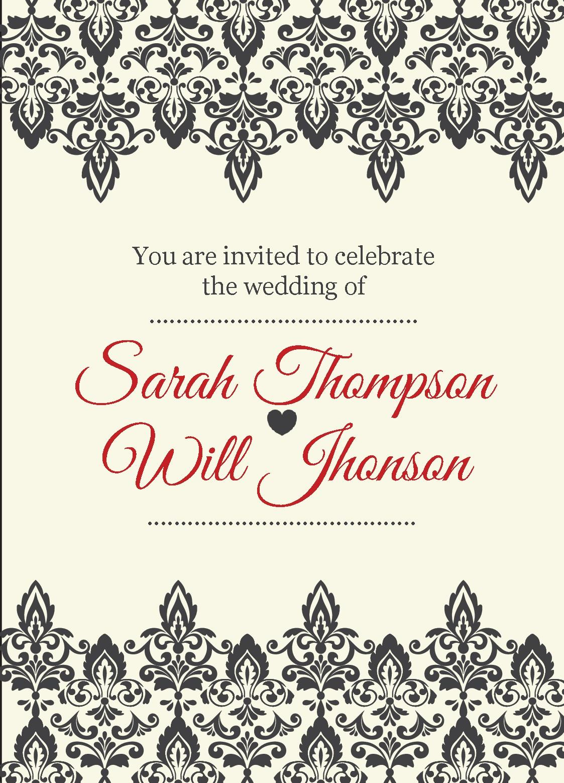 Free invitations templates instantprint vintage cards invites design template stopboris Images