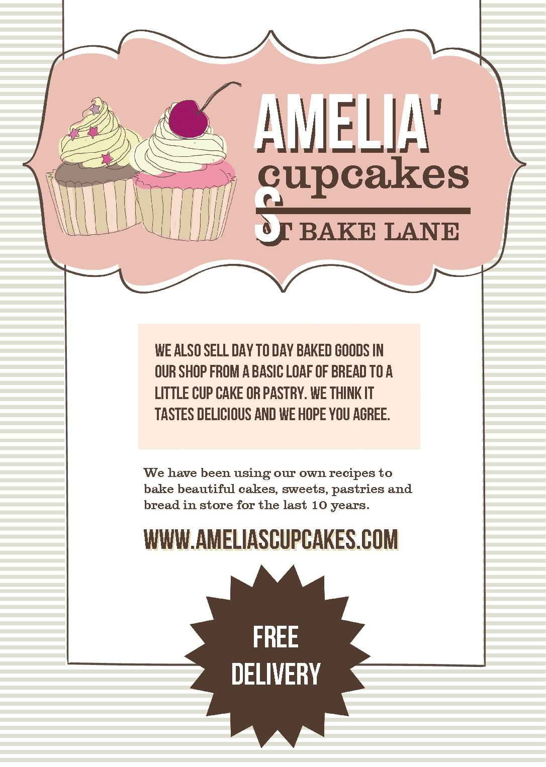 Free poster templates amelias bakery poster prints design template stopboris Image collections