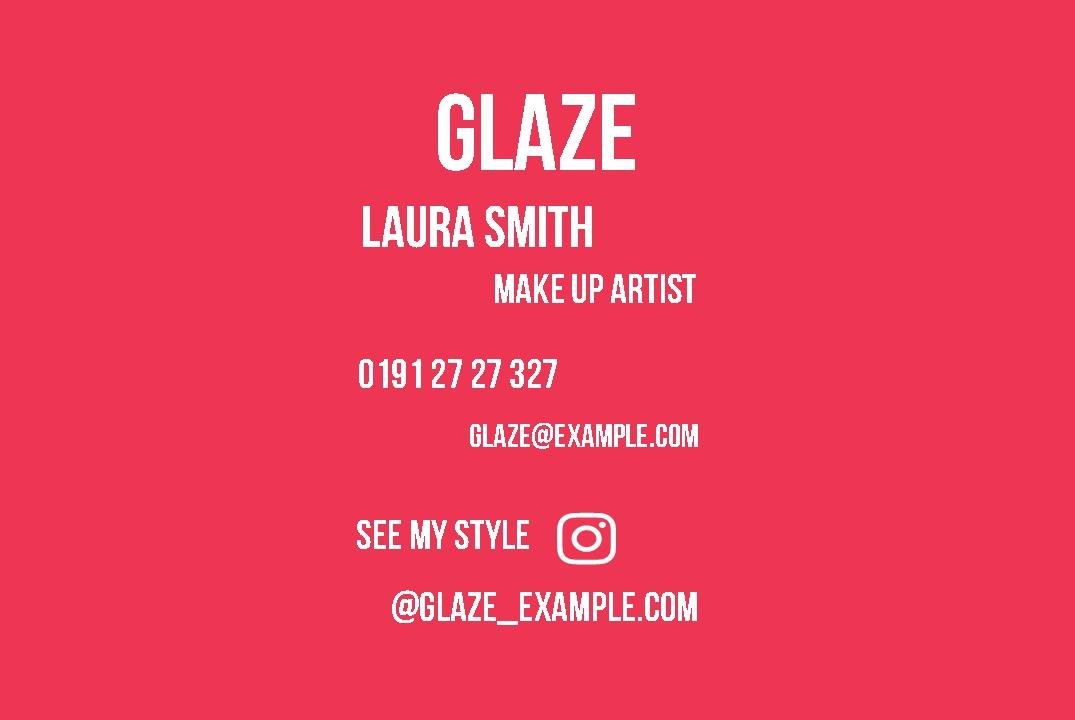 Instant print design online business cards templates glaze business cards design template glaze business cards design template wajeb Images