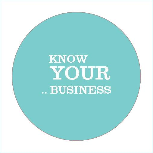 Know your business stickers labels design template