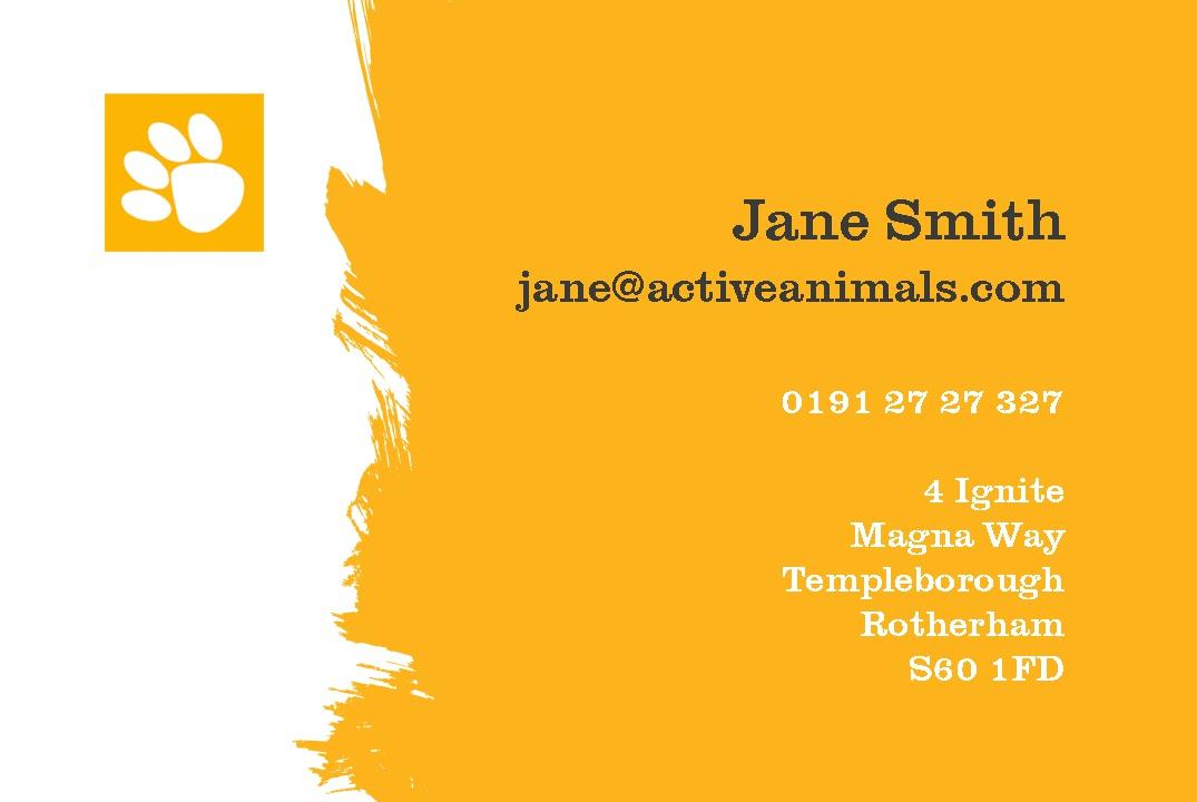 Free business cards templates instantprint active animals business cards design template cheaphphosting Images