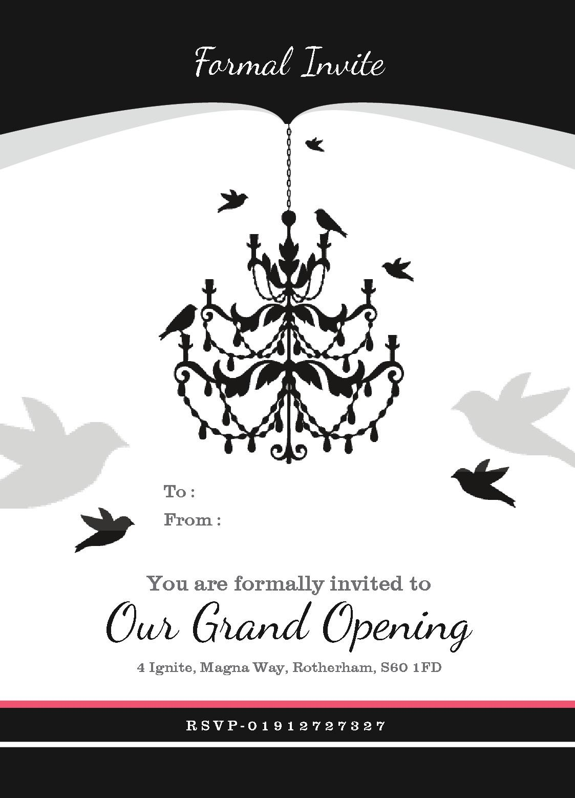 Old Fashioned Grand Opening Invitation Template Frieze - Grand opening invitation template
