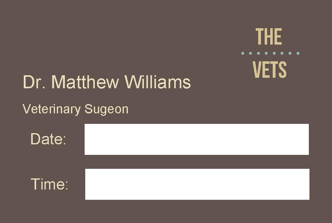 Free business cards templates instantprint the vets business cards design template wajeb Images